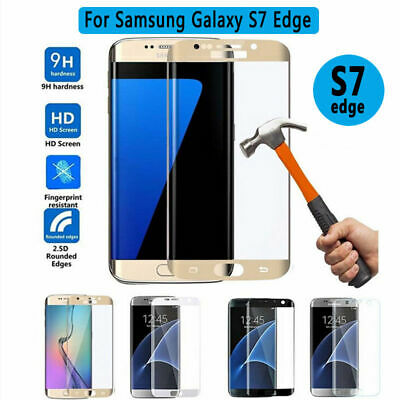 100% Genuine Tempered Glass LCD Screen Protector Film For Samsung Galaxy S7 Edge