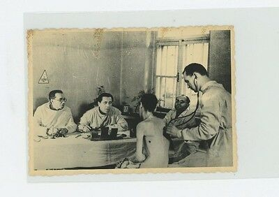 WW2 Concentration Camp Photo Dr looking at Gaunt man USSR Ukranian MVD archives