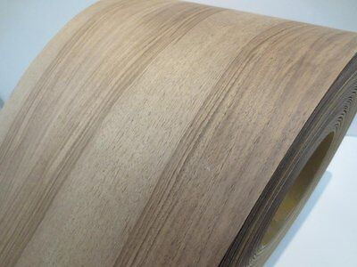Real wood Veneer Walnut european with Hot melt adhesive iron-on 30cm Wide