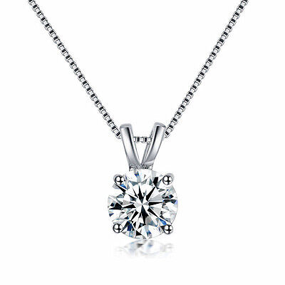 Fashion Charm Clear Crystal Rhinestone Pendant Silver Chain Necklace Jewelry Hot