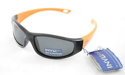 ed08ba9d805 Occhiali da sole Sunglasses INVU K 2414 C BOY NERO ORANGE 100% POLARIZZATO  UV400