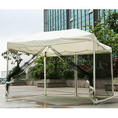 IKAYAA Folding Outdoor Gazebo Pop Up with Mosquito Net Party Tent Marquee AD
