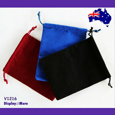 100 DOUBLE Sided Velvet Jewellery Gift Pouch Bag-12x16cm | AUSSIE Seller