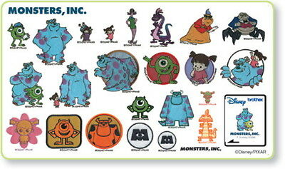Disney Monsters Inc Brother Machine Embroidery Designs PES CD,USB