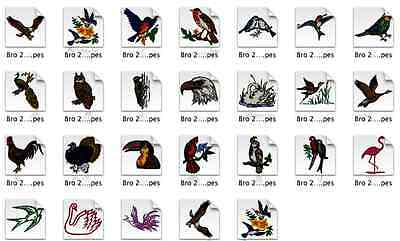 Birds Brother Machine Embroidery Designs PES CD,USB