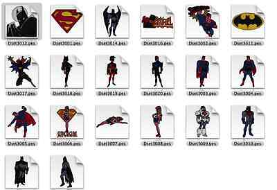 Super Heroes Batman, Superman Brother Machine Embroidery Designs PES CD,USB