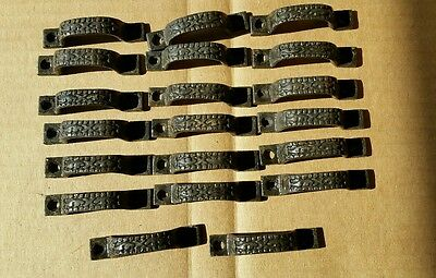 20 Mini DRAWER PULLS  HANDLES EMBOSSED CAST IRON  VICTORIAN STYLE (#3 )