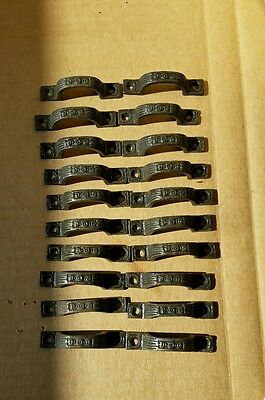 20 Mini DRAWER PULLS HANDLES  EMBOSSED CAST IRON  VICTORIAN STYLE (#2)