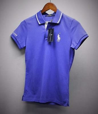 New Ladies Small Ralph Lauren POLO GOLF short sleeve golf top Deep Periwinkle