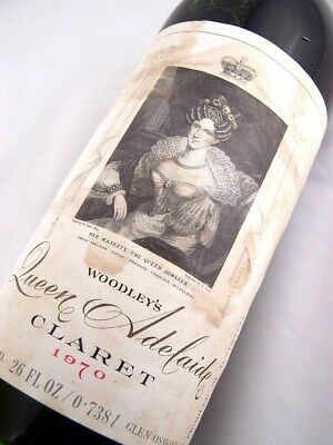 1970 WOODLEY WINES Queen Adelaide Red Blend B Isle of Wine • AUD 79.95