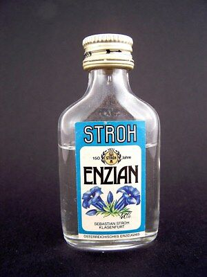 Miniature circa 1982 ENZIAN by STROH Isle of Wine