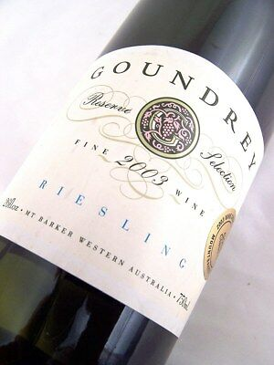 2003 GOUNDREY WINES Reserve Selection Riesling Isle of Wine