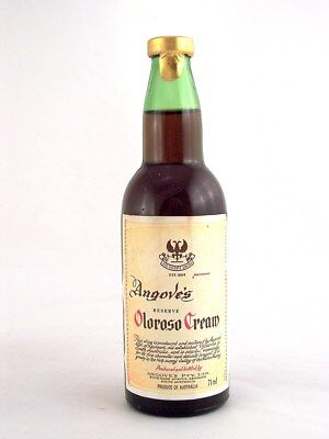 Miniature circa 1975 ANGOVE'S RESERVE OLOROSO CREAM Isle of Wine