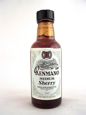 Miniature circa 1973 RENMANO MEDIUM SHERRY 75ml Isle of Wine