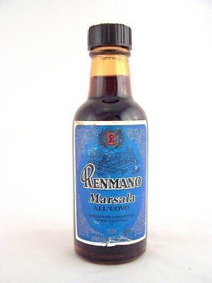 Miniature circa 1973 RENMANO MARSALA ALL'UOVO 75ml Isle of Wine