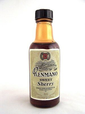 Miniature circa 1973 RENMANO SWEET SHERRY 75ml Isle of Wine