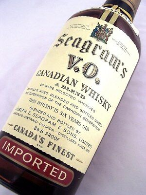 1970 dated SEAGRAMS Canadian 6YO V.O.Whisky Isle of Wine