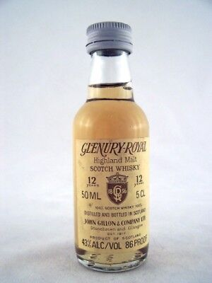Miniature circa 1974 Glenury Royal 12YO Malt Whisky Isle of Wine