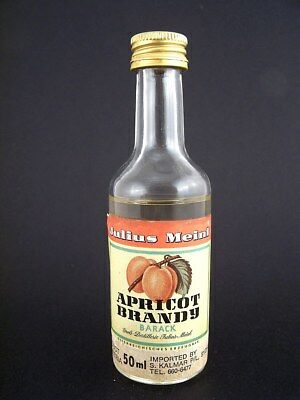 Miniature circa 1977 JULIUS MEINL APRICOT BRANDY Isle of Wine