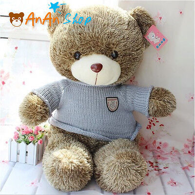 "Cute 23"" 60cm Plush Teddy Bear Nice Sweater Stuffed Animal Soft Toy Kids Gift"