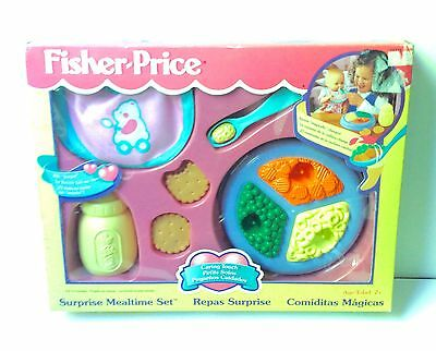 Vintage Fisher Price Caring Touch Surprise Mealtime Set BRAND NEW SEALED!! 1997