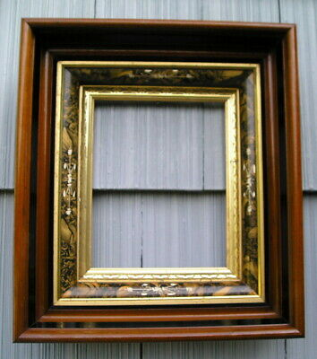 Rare Antique Aesthetic Eastlake Victorian Carved Gold Gilt Picture Frame 8~10