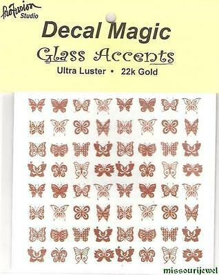 "Mini 22k Gold Decals ""Butterflies"" for glass fusing and jewelry"