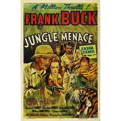 Jungle Menace - Classic Cliffhanger Serial Movie DVD Frank Buck