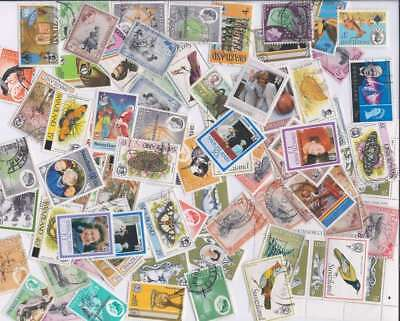 Swaziland Stamp Collection - 100 Different Stamps