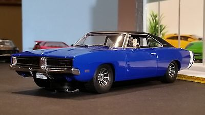 SCALEXTRIC Slot Car 1:32 DODGE CHARGER Digital Plug Ready NEW Blue DETAIL