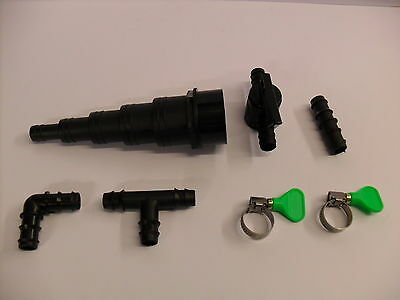 """0.50"""" Flexi Hose and Fittings. Koi fish pond filter"""