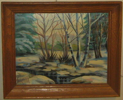 Vintage GERALD V SODERHOLM 'Winter COLORADO Landscape' Oil Painting - LISTED