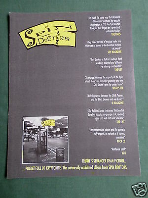 Spin Doctors - Magazine Clipping / Cutting- 1 Page Advert