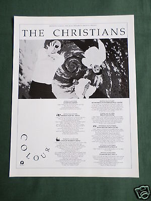 The Christians - Magazine Clipping / Cutting- 1 Page Advert