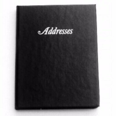 1 x Cumberland Black Address Book 125mm x 95mm 510103 *