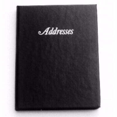 BLACK Address Book Hard Cover 125mm x 95mm by Cumberland 510103 *