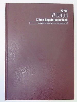 1 x Wildon Appointment Book 300x215mm 1/2hr 56 Sheets WIL222