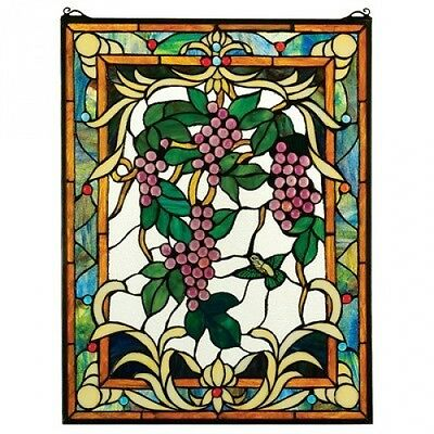 The Grape Vineyard Stained Glass Window. Shipping Included