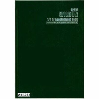 1 x Wildon Appointment Book 300x215mm 1/4hr 56 Sheets  WIL223