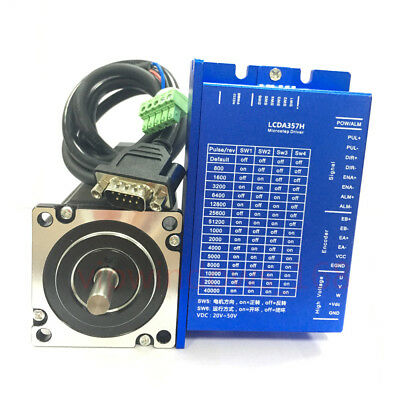 3Nm DSP Closed-loop Nema23 Stepper Motor Hybrid Servo Driver 425oz.in 4A CNC