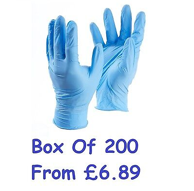 Blue Gloves Sensitive Nitrile Powder Free (Latex) Medical Grade (Boxed 200)