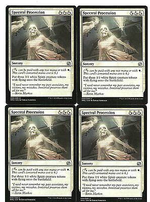 mtg Magic 4x Spectral Procession ( Procesion espectral )  English NM- MM 2015