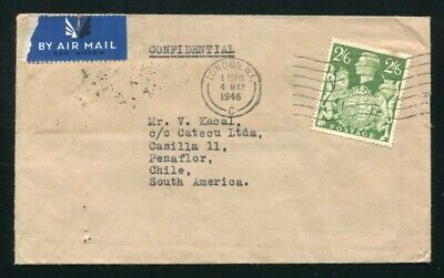Gb George 6Th High Value Airmail Chile