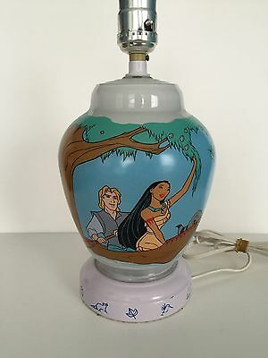 "Vintage Disney Pocahontas & Friends 11"" Lamp & Night Light 1995"
