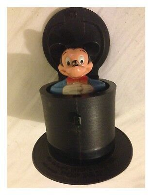 Disney Mickey Mouse Pop Pal - Jack In A Box Mickey Mouse Toy - Good Used #MC15