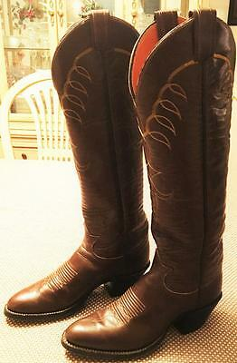 Vintage Tony Lama Ladies tall western boots size 6.5 /165
