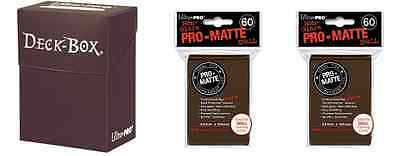 Ultra Pro Brown Deck Box + 120 Small Matte Sleeves