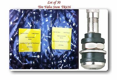 "50 Kits Tr416 Tire Valve Stems Fits: .453"" & .625"" Rim Valve Holes Long 1 1/2"""