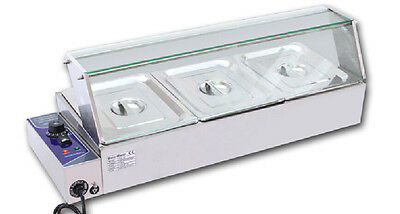 3 Pans Pots Commercial Bain-Marie Buffet Food Warmer 110V1.5KW Good Package