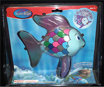 Swimways Rainbow Fish Toy NEW NIB Swims with Life Like Action Tub Swimming Pool